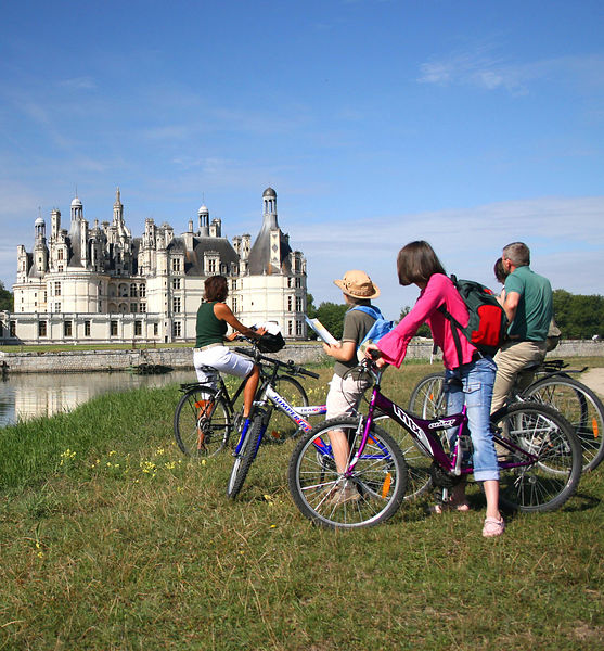 Chateau de Chambord à vélo gites les 3 lys